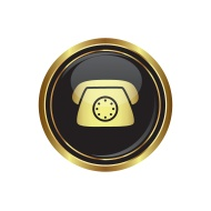stock-illustration-99325035-telephone-receiver-icon-on-the-black-with-gold-round-button